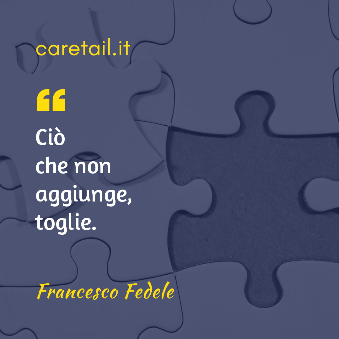 Aforisma Francesco Fedele