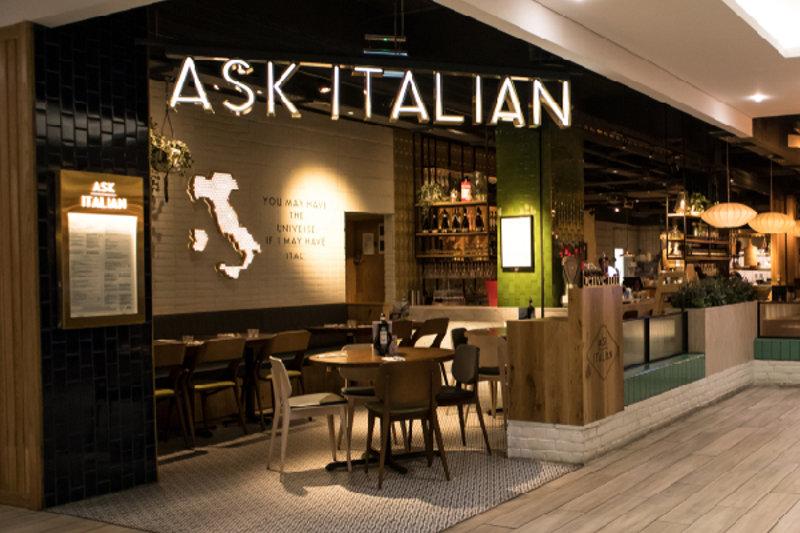 particolare del negozio Ask Italiani
