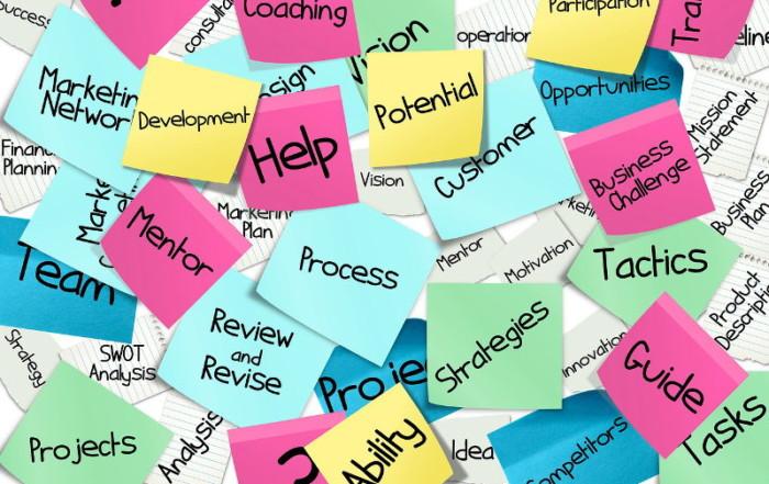 Post-it con le skill di ricerca e sviluppo